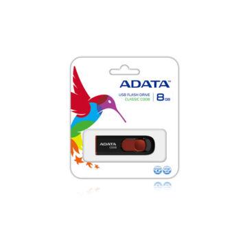 ADATA C008 Classic 8 GB pendrive USB 2.0 - fekete-Piros