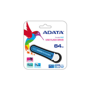 ADATA S107 Waterproof Shock-Resistant 64 GB pendrive USB 3.0 - Kék