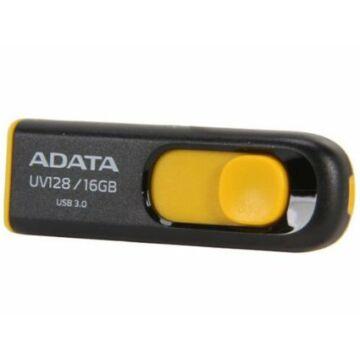 ADATA UV128 16 GB pendrive USB 3.0 - fekete-Sárga