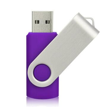 Colour Swivel 8GB Szitázható Pendrive USB 2.0 Pastel Lila/ezüst