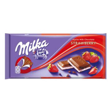 Milka Alpesi Tejcsokoládé Epres Ízesítéssel 100 g