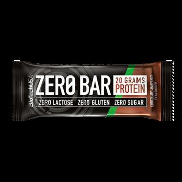 BioTech USA Zero Bar Fehérje Szelet Csokis Mogyorós Ízben 50 g