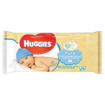 Huggies Pure nedves törlőkendő - 56 db