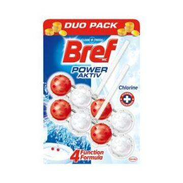 Bref Power Aktiv Wc Frissítő Duo-Pack (2 db) - Chlorine