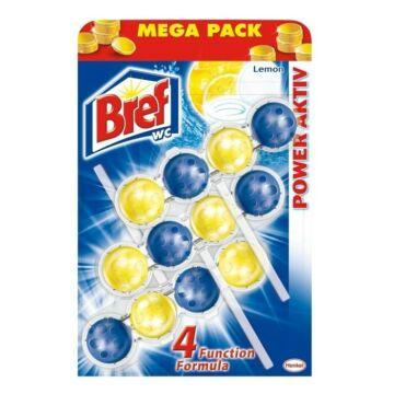 Bref Power Aktiv Wc Frissítő Mega-Pack (3 db) - Lemon
