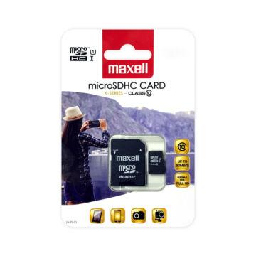 Maxell Micro SDHC 16GB Memóriakártya Class 10+ Adapter (90 Mb/S)