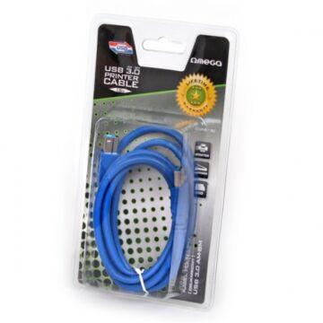 Omega Ouab130 USB 3.0 Nyomtató Kábel Am - Bm 1,5M 41004