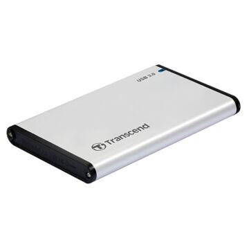 Transcend Storejet 2.5'' Külső USB 3.0/Sata Merevlemez Ház Ezüst