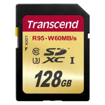 Transcend 128GB SDXC Memóriakártya Class10 UHS-I U3