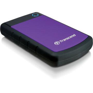 Transcend Storejet 25H3P 1TB Ext. HDD Külső Merevlemez 2.5'' USB 3.0, Sw Elite, Otb, Lila