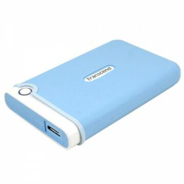 Transcend Storejet 25M3 1TB Ext. HDD Külső Merevlemez 2.5'' USB 3.0, Sw Elite, Kék