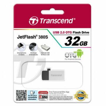 Transcend 32GB USB 2.0 Pendrive Jetflash 380 OTG Ezüst