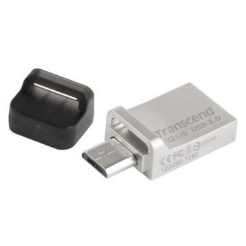 Transcend 32GB USB 3.0 Pendrive Jetflash 880 OTG Ezüst
