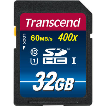 Transcend 32GB SDHC Memóriakártya Class 10 UHS-I 300X