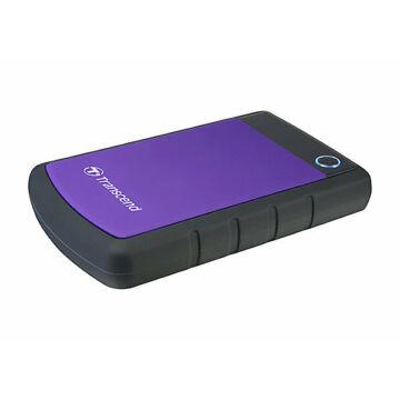 Transcend Storejet 25H3P 3TB Ext. HDD Külső Merevlemez 2.5'' USB 3.0, Sw Elite, Otb, Lila