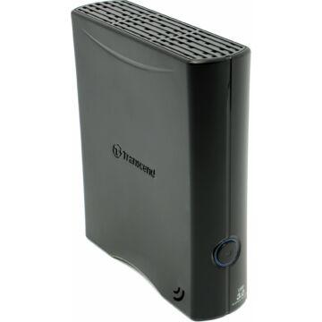 Transcend Storejet 35T3 Turbo 4TB HDD Külső Merevlemez 3.5'' USB 3.0, Sw Elite, 256-Bit Aes, Fekete