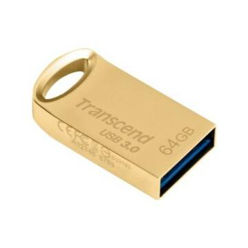 Transcend 64GB USB 3.0 Pendrive Jetflash 710 Fém Arany