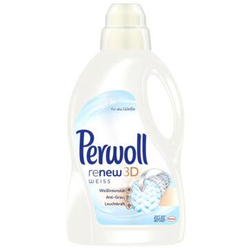 Perwoll Renew 3D Folyékony Mosószer Fehér (4L)
