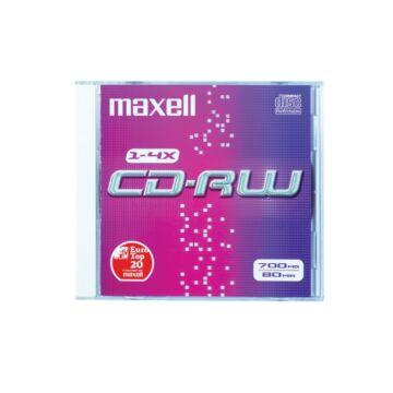 Maxell CD-RW 4X lemez, normál tokban (1 db)