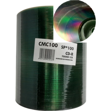 Cmc CD-R 52X Szitázással Nyomtatható Lemez - Shrink (100)