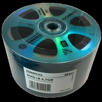 Omega DVD+R 4,7GB Lemez, Digital Movie Edition Kék - Shrink (50)