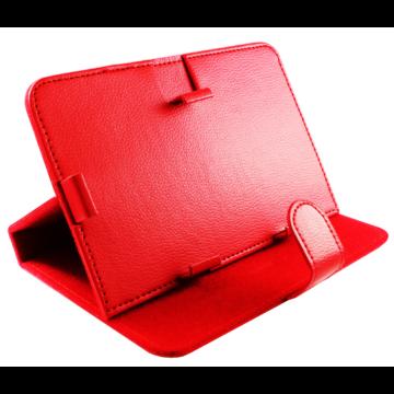 Tablet tok 7 colos (piros), FIESTA GEORGIA, támasztó állvány funkcióval öko-bőrből 41670