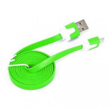 Omega Ouamcg USB 2.0 - Micro USB Töltőkábel Tablethez És Okostelefonokhoz 1M Zöld 41858