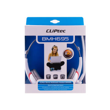 Cliptec Stereo Multimedia Headset Bmh695-03 Piros