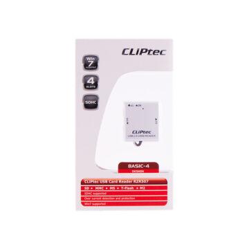 Cliptec Kártya Olvasó 4 Slots RZR 507-00 Fehér