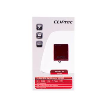 Cliptec Kártya Olvasó 4 Slots RZR 507-06 Barna