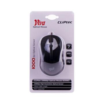 Cliptec Viva 1000Dpi Optikai Egér Rzs961-01 Fekete