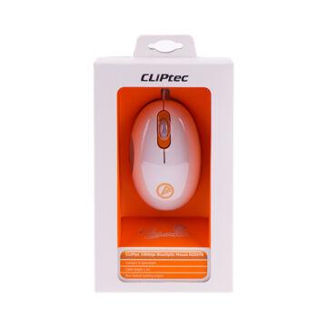 Cliptec USB 1000Dpi Optikai Egér Rzs978 -05 Narancssárga