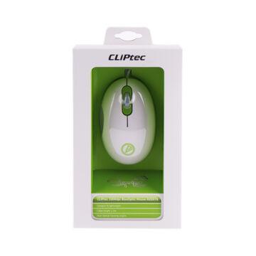 CLIPTEC USB 1000DPI  optikai egér RZS978 -08 zöld