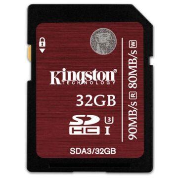 Kingston 32GB SDHC Memóriakártya U3 Class 10 (90/80 Mb/S)