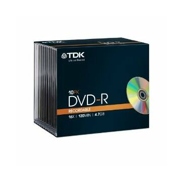 TDK DVD-R 4,7GB 16X SLIM CASE (10)