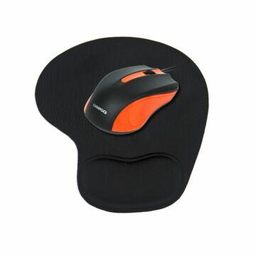 Omega Optikai Egér OM-05 1000Dpi Narancs + Gel Pad Szett [42220]