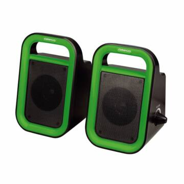 Omega Hangszoró Og-119B Zöld 2X3W Rms USB [43093]