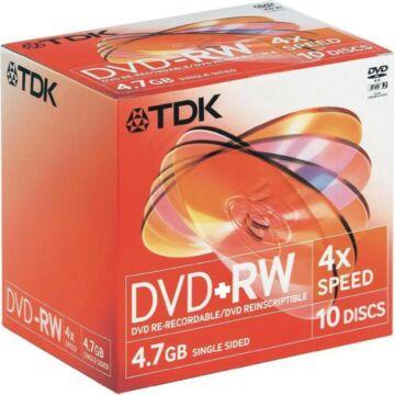 TDK DVD+RW 4,7GB 4X Lemez - Normál Tokban (10)