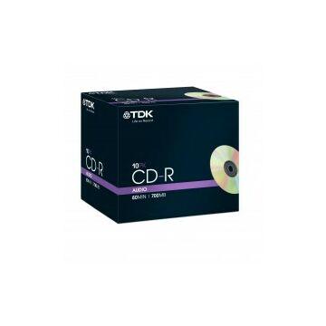 TDK CD-R 40X 700MB AUDIO normál tokban (10)