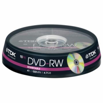 TDK DVD-RW 4,7GB 4X Lemez - Cake (10)