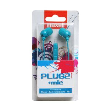 Maxell Plugz Ear Bud Fülhallgató Kék +Mic