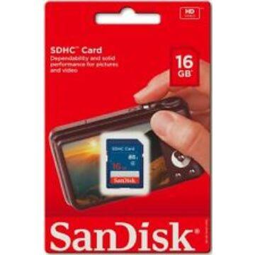SanDisk 16GB SDHC Memóriakártya Class 4 (SDSDB-016G-B35)