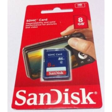 SanDisk 8GB SDHC Memóriakártya Class 4 (SDSDB-008G-B35)