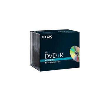 TDK DVD+R 4,7GB 16X Normál Tokban (10)
