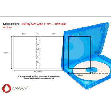 Amaray Blu Ray Tok Szimpla 11 mm