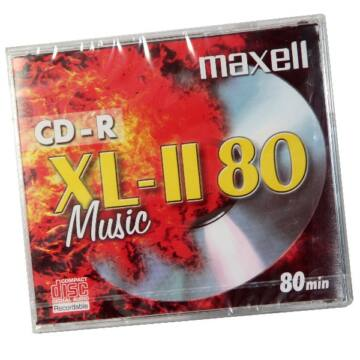 Maxell CD-R 52x Audio lemez, Normál Tokban
