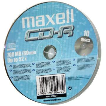 Maxell CD-R 52x lemez, Shrink (10)