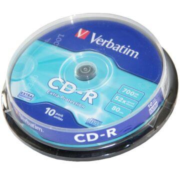 Verbatim CD-R 52X Lemez - Cake (10)