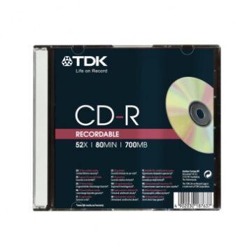 TDK CD-R 52X Lemez - Slim Tokban (1)