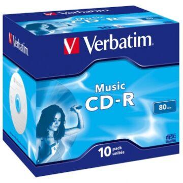 Verbatim CD-R 52X Audio Lemez - Normál Tokban (10)